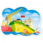 Puzzle  Castorland-120130 XXL Teile - Ein Tag im Hafen