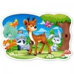 Puzzle  Castorland-120154 XXL Teile - Waldtiere