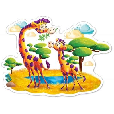 Puzzle  Castorland-120178 XXL Teile - Giraffen in der Savanne