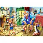 Puzzle  Castorland-12787 Pinocchio und Gepetto