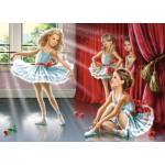 Puzzle  Castorland-13036 Kleine Ballerinas