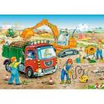 Puzzle  Castorland-13180 Baustelle