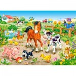 Puzzle  Castorland-13197 Auf dem Bauernhof