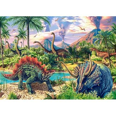 Puzzle  Castorland-13234 Dinosaurier