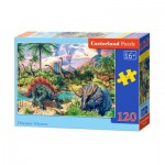 Puzzle  Castorland-13234 Dinosaurier
