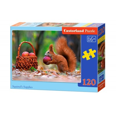 Puzzle  Castorland-13302 Eichhörnchen