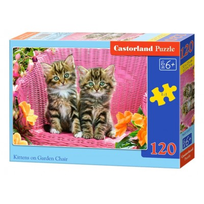 Puzzle  Castorland-13357 Kätzchen