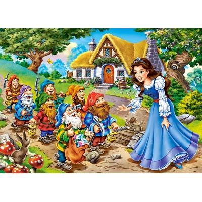 Puzzle  Castorland-13401 Schneewittchen und die 7 Zwerge
