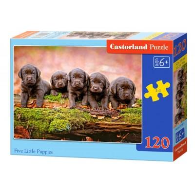 Puzzle  Castorland-13418 Hundewelpen