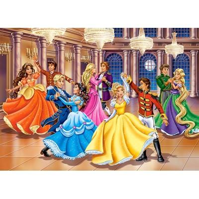 Puzzle  Castorland-13449 Prinzessin Ball