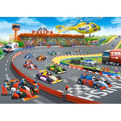 Puzzle  Castorland-13470 Formula Racing