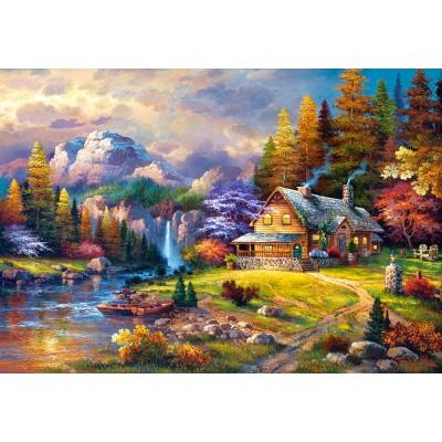 Puzzle Castorland-151462 Cottage Mountain Hideaway