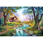 Puzzle  Castorland-151547 Cottage, Colors of Autumn