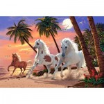 Puzzle  Castorland-151691 White Horses