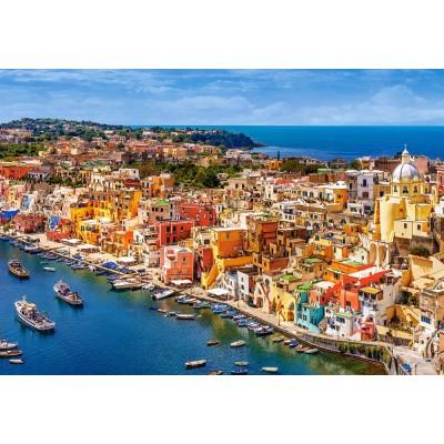 Puzzle  Castorland-151769 Marina Corricella, Italien