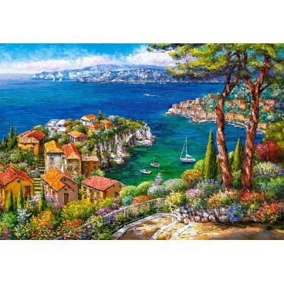 Puzzle Castorland-151776 Côte d'Azur, Frankreich