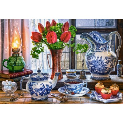 Puzzle  Castorland-151820 Still Life with Tulips
