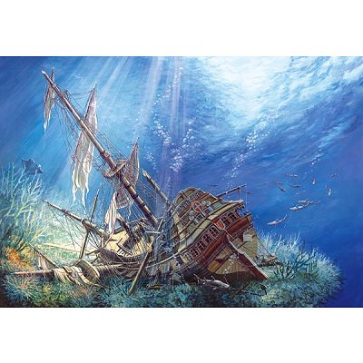 Puzzle  Castorland-200252 Schiffswrack