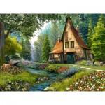 Puzzle  Castorland-200634 Dominic Davison - Toadstool Cottage