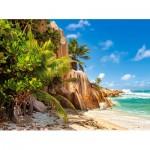 Puzzle  Castorland-200665 Paradise Beach of Seychelles