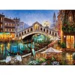Puzzle  Castorland-200689 Grand Canal Bistro, Venedig