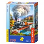 Puzzle  Castorland-222070 Train Crossing