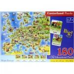 Puzzle  Castorland-227 Europa Mappe