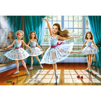 Puzzle  Castorland-27231 Die kleinen Ballerinas
