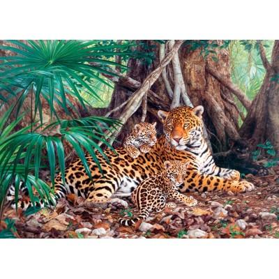 Puzzle  Castorland-300280 Jaguar im Wald
