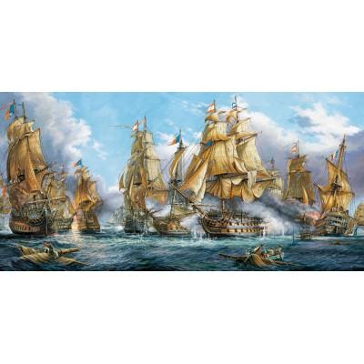 Puzzle  Castorland-400102 Die Seeschlacht