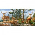 Puzzle  Castorland-400317 Royal Deer Family