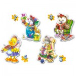 Castorland-4102-04225 4 Puzzles - Freizeit