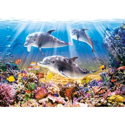 Puzzle Castorland-52547 Die Welt der Delfine