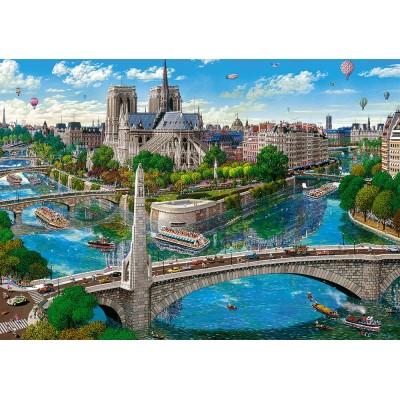Puzzle  Castorland-52653 Paris - Notre Dame