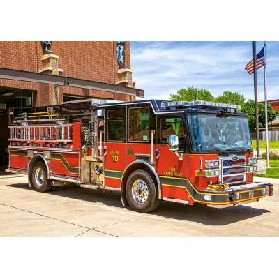 Puzzle  Castorland-52660 Feuerwehrauto
