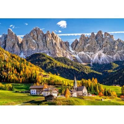 Puzzle  Castorland-52738 Santa Maddalena in Val di Funes, Italien