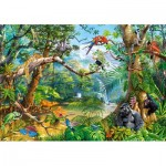 Puzzle  Castorland-52776 Life Hidden in Jungle