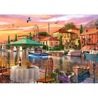 Puzzle  Castorland-52912 Sunset Harbour