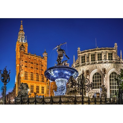 Puzzle  Castorland-52936 Gdansk, Neptune Fountain
