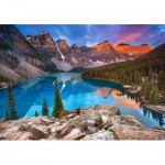 Puzzle  Castorland-53001 Sunrise at Moraine Lake, Kanada