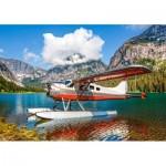 Puzzle  Castorland-53025 Floatplane on Mountain Lake