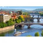 Puzzle  Castorland-53087 View of Bridges in Prague