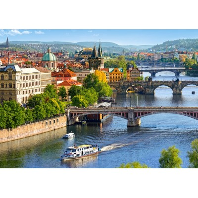 Puzzle Castorland-53087 View of Bridges in Prague
