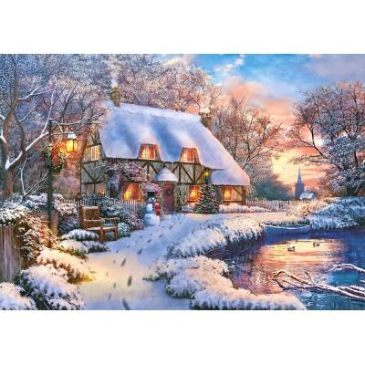 Puzzle Castorland-53278 Winter Cottage