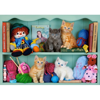 Puzzle Castorland-53377 Kitten Shelves