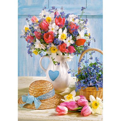 Puzzle Castorland-53520 Spring in Flower Pot