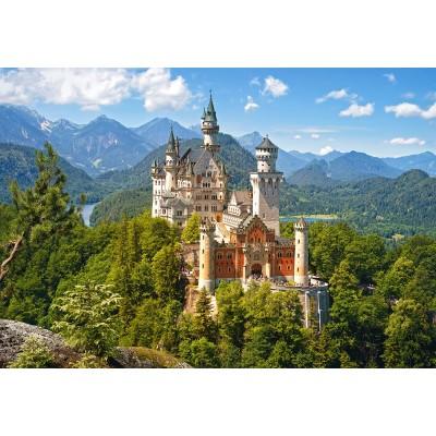 Puzzle Castorland-53544 View of the Neuschwanstein Castle