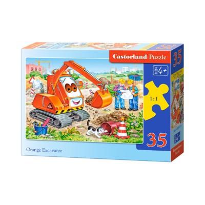 Puzzle  Castorland-B-035113 Schaufelbagger