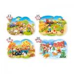 Castorland-B-043019 4 Puzzles XXL