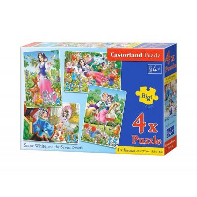 Puzzle  Castorland-B-04423 Schneewittchen und die 7 Zwerge